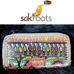 Sakroots Artist Circle Tribal Print Large Wallet